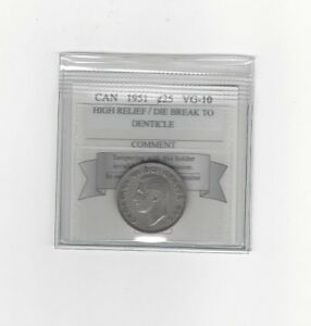1951-HR-Coin-Mart-Graded-Canadian-25-Cent-VG-10-DB-to-Denticle