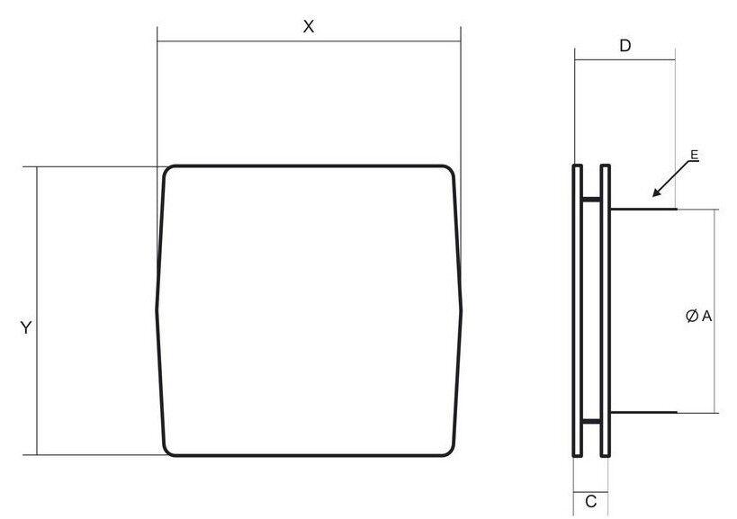 100mm 100mm 100mm Badezimmer Extraktor Ventilator mit Moderner Edelstahl Frontplatte     | Shop  | 2019  | Langfristiger Ruf  8188b9