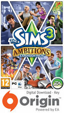 THE SIMS 3 AMBITIONS EXPANSION PACK PC AND MAC ORIGIN KEY