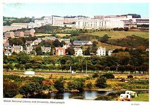 Postcard-WELSH-NATIONAL-LIBRARY-amp-UNI-ABERYSTWYTH-Ref-D7