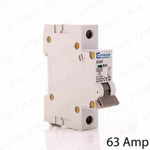 63 amp mini circuit breaker type b single pole 230v 6ka trip switch rh ebay co uk Kia Rio Fuse Box 2012 Kia Soul Fuse Box