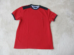 80eede4d855e46 VINTAGE Tommy Hilfiger Shirt Adult Small Red Blue Flag Logo Color ...