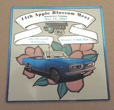 WINCHESTER, VA 2002 AACA SHENANDOAH REGION APPLE BLOSSOM MEET DASH PLAQUE/SIGN