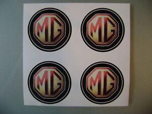 4x 60 mm fits MG MGF roue autocollants center badge centre enjoliveur en alliage hub cap s