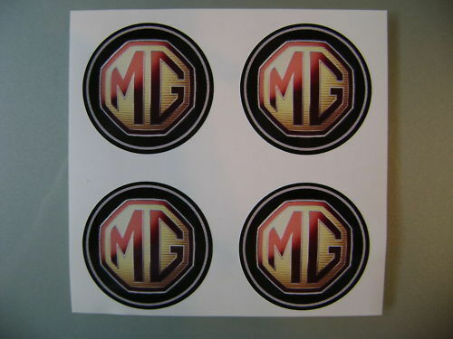4x 70 mm fits mg mgf wheel STICKERS center badge centre trim cap hub alloy c