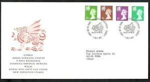 1997 Gb Fdc Cymru Wales New Definitive Stamps 1 July - 001-002