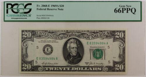 Fr 1969-A $20 FRN *E-A* Note 2068-E Federal Reserve PCGS Gem 66 PPQ