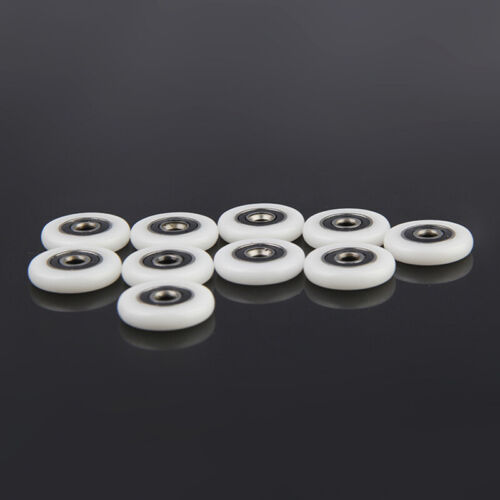 8pcs Kit Sliding Single Shower Door Wheels Rollers Runners Pulleys Replacement