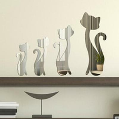 Fashion Removable Mirror 3D DIY Wall Stickers Decal Living Room Home Decor Y2