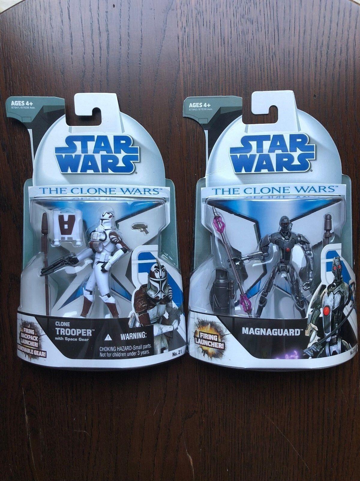 Star - wars - den klonkriegen  klon - soldat mit platz ausrüstung & magnaguard zahlen