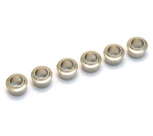 (6) Genuine Fender Nickel Vintage Tuner Bushings for Strat/Tele 099-4946-000