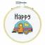 Dimensiones-puntada-cruzada-contada-Kit-Con-Aro-caravana-Floral-Pajaros miniatura 7