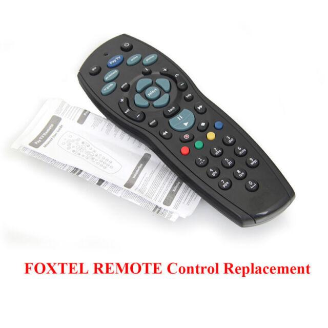 Foxtel Remote Control Replacement For IQ, IQ2, IQ3, IQ4, HD, MYSTAR  Black