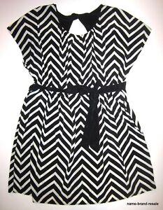 3929f5b05a LANE BRYANT Womens PLUS 18 20 Black White Chevron DRESS Knee Length ...