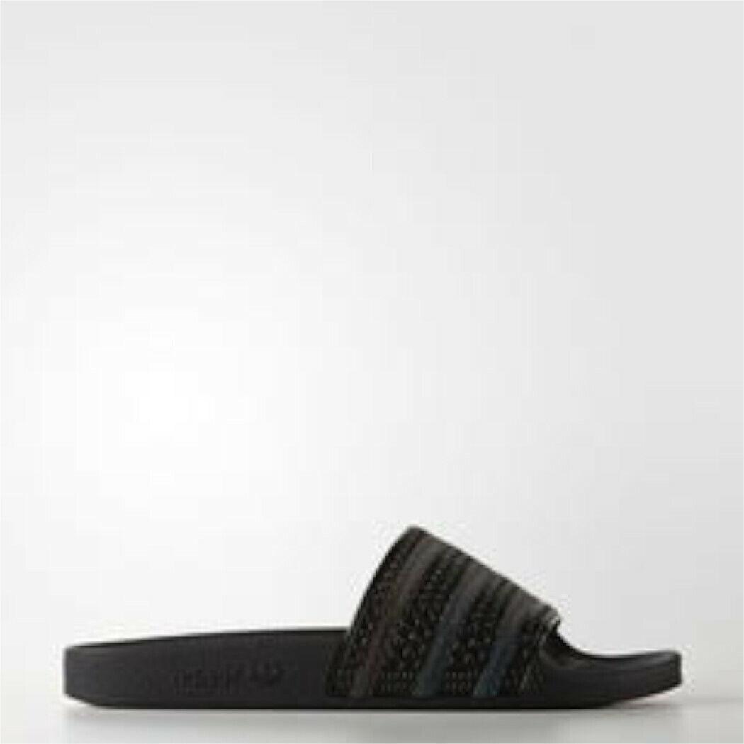 Adidas Originals Adilette Slipper Chanclas Baño Baño Baño caballero negro negro  respuestas rápidas