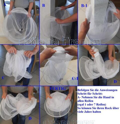 Rock Unterrock 2 o 4Tüllschicht Grosse v 82cm bis 180cm Gr für Kinder und Frauen