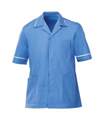 HOSPITAL BLUE INS37HB MENS HEALTHCARE TUNIC MALE NURSE NHS DENTIST VET UNIFORM