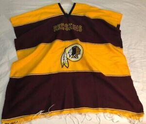 Nfl Washington Redskins Stitched Pullover Pancho Blanket Worn Like A
