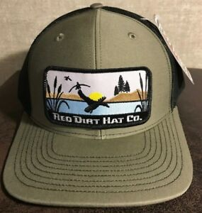 913a1ab559b Red Dirt Duck Stamp Hunting Patch Hat SnapBack Trucker Richardson ...