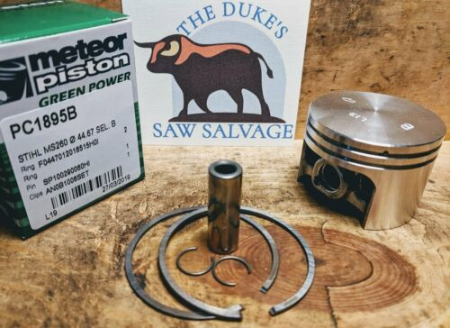 METEOR STIHL MS260 PISTON WITH CABER RINGS 44.7MM  1121 030 2003