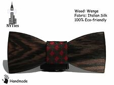 """NYTies"" Wooden Bow Tie HandMade Clip-on Men's Gift Fashion Wedding"