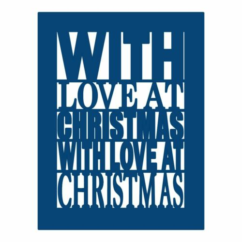 With Love at Christmas Plaque Tattered Lace Metal Die Paper Card Cutting