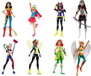 "Mattel DC Super Hero Girls 6"" Figure  -  Batgirl Supergirl Wonder Woman Katana"
