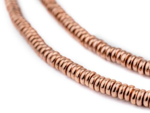 Copper Smooth Heishi Beads 3mm 24 Inch Strand