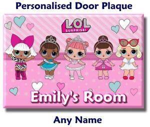 LOL Surprise Dolls Christmas Xmas Gift Door Plaque Sign Girl