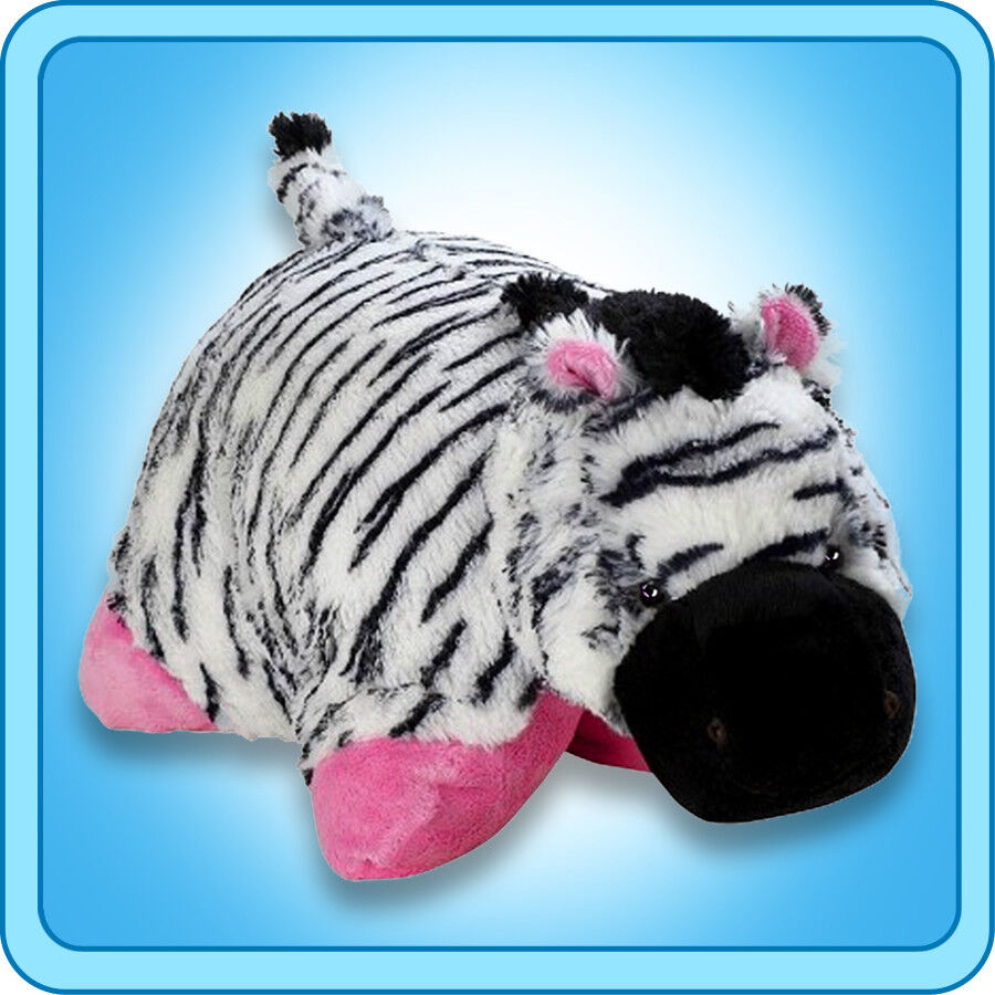 Authentic Pillow Pets Zippity Zebra Pink Large 18  Plush Toy Gift