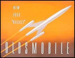 1953 Oldsmobile Rocket Brochure Catalog Original 53