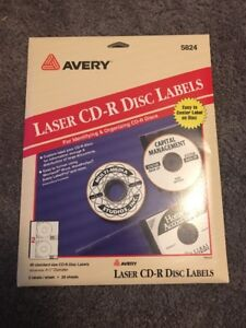 avery 5824 white laser cd r disc labels 40 labels 4 1 2 72782058241