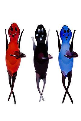 Flaschenteufel / Wassertanzer 3 Stück rot, schwarz und blau+ 1Mostkappe gratis