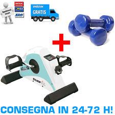 EVERFIT WELLY M Pedaliera Riabilitazione Cyclette + COPPIA DI MANUBRI DA 1.5 KG