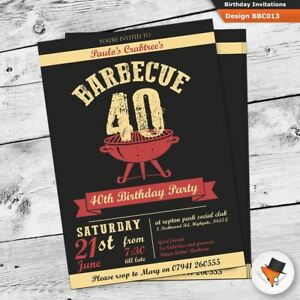 Image Is Loading Personalised BBQ Barbeque Birthday Invitations With Envs 21st