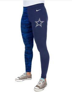 ae7c6ddc232 Women's Nike Dallas Cowboys Leg-A-See Tights Pants Gym Navy Blue ...