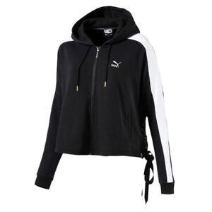 Cropped Track Zip Black 573041 Hooded Puma T7 Up Womens Heart Jacket YwvxEIE8q