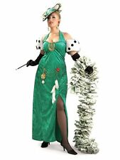 Deluxe Lady Pimp Money Bags Lady Luck Gambler Costume Size 16-22