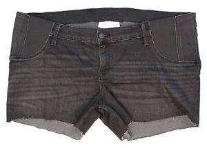 Women-039-s-Plus-Size-Maternity-Midi-Jean-Shorts-by-Ingrid-amp-Isabel-Black-Wash-16
