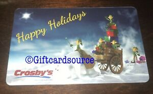 CROSBY'S GAS STATION GIFT CARD NO VALUE HAPPY HOLIDAYS POLAR BEAR COLLECTIBLE
