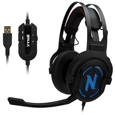 Rosewill 7.1 Surround Sound Memory Foam Headphones Gaming Headset - NEBULA GX60