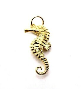 Vintage hallmarked solid 9ct yellow gold seahorse pendant ebay image is loading vintage hallmarked solid 9ct yellow gold seahorse pendant aloadofball