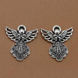 10pcs-Antique-Silver-Wing-Angel-Charms-Beads-Pendants-for-DIY-Bracelet