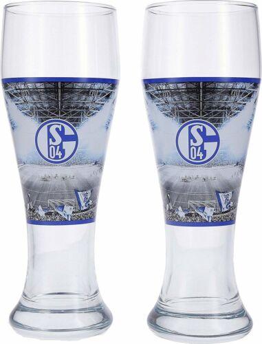 er Set FC Schalke 04 Weizenbierglas Bierglas im 2
