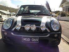 BMW MINI SPOT LIGHTS BRUSHED STAINLESS STEEL SHINE LIKE CHROME