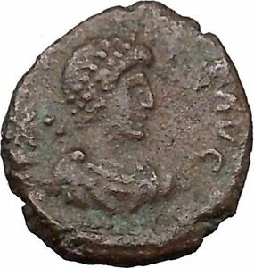 ARCADIUS-383AD-Authentic-Ancient-Roman-Coin-VICTORY-Nike-with-trophy-i36220