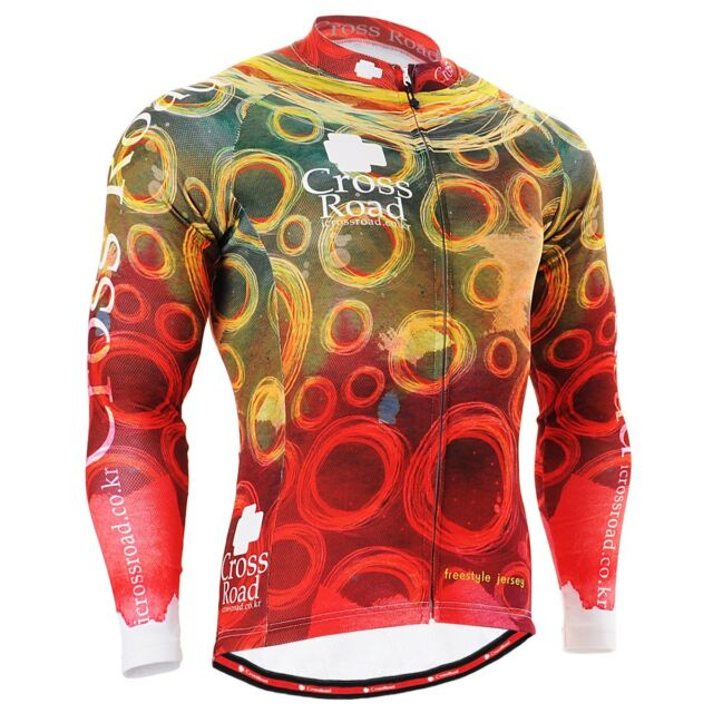 FIXGEAR CS-401 Men's Long Sleeve Cycling Jersey Bicycle Apparel Roadbike MTB