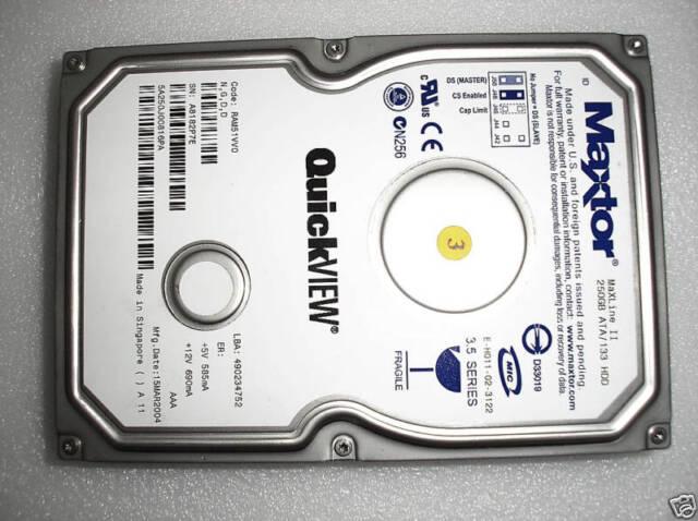 """Maxtor 5A250J0 MaXLine II 250GB ATA IDE 3.5"""" Hard Disk Drive"""