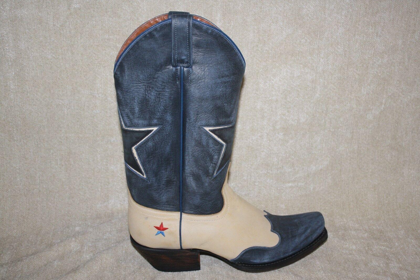 Para Hombre rojoNECK RIVIERA Occidental botas De Vaquero nosotros tamaño 9 i18d un