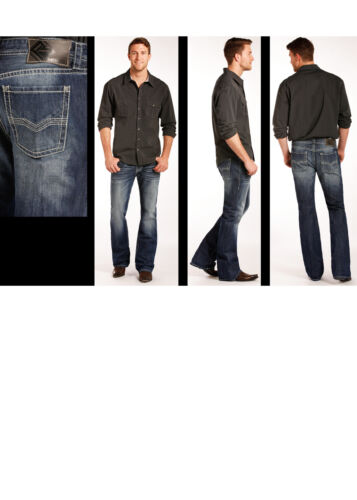 Rock /& Roll Cowboy Men/'s Regular Pistol Fit Medium Wash Bootcut Jeans M0P4427